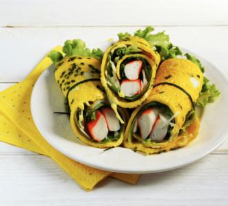 Omelette roulée à la japonaise et Petits Coraya