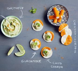 Chips de Coraya et guacamole