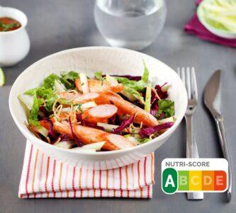 Salade aux Suprêmes de Coraya, pomme et chou rouge