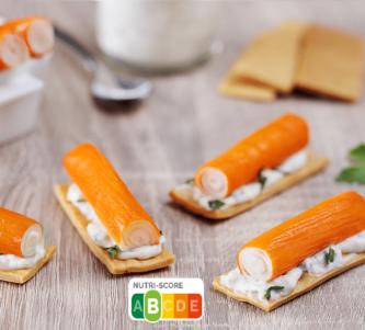 Crackers aux Petits Coraya et sauce mayonnaise façon tartare