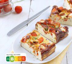 Clafoutis avec L'Original de Coraya, ricotta et tomates cerises