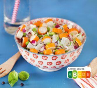 Salade de surimi L'Original de Coraya et petits pois